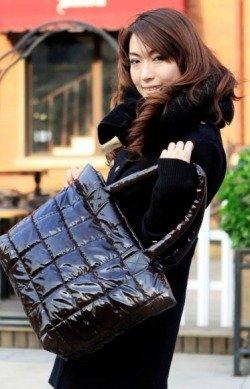 Duża czarna torebka damska Japan Style TO2075