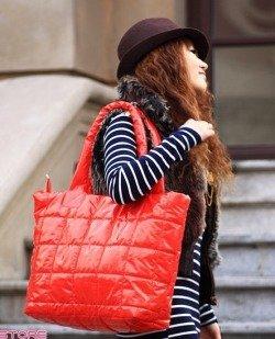 Duża czerwona torebka damska Japan Style TO2076