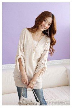 Beżowy sweter, kimono Japan Style SW2865